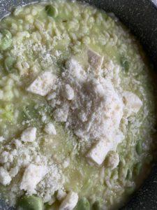 Fava bean risotto