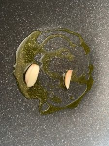 Pasta with avocado and swordfish