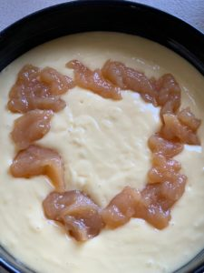 Yogurt and fruit jam cake