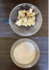 Butter and flour for rich shortcrust pastry