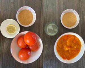 Persimmon jam preparation