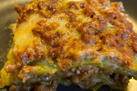Lasagne bolognesi in a plate