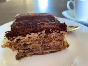 Original Italian tiramisu slice