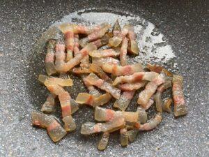 Real carbonara recipe - cooked guanciale