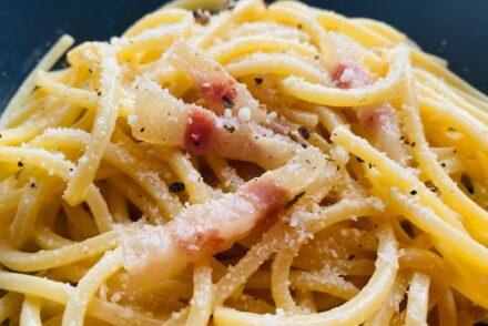 Real carbonara recipe - in the plate