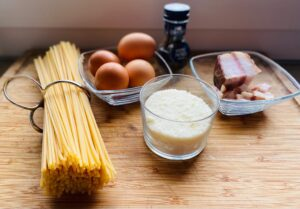 Real carbonara recipe - ingredients