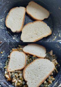 Authentic ribollita soup - bread layers