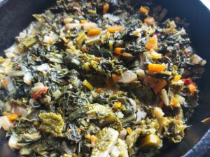 Authentic ribollita soup - cooked vegetables