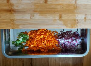 Authentic ribollita soup - onion, celery, carrot