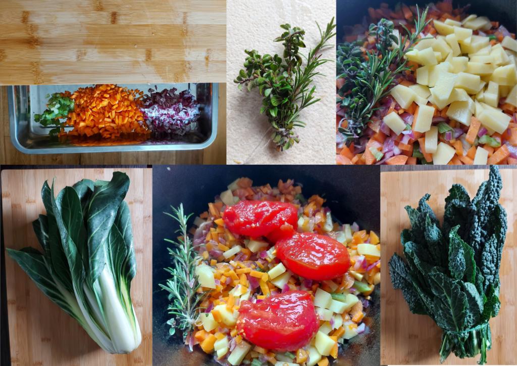 Authentic ribollita soup preparation